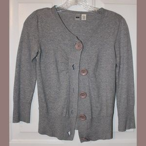 Grey Cardigan Perfect for Spring 3/4 Sleeve